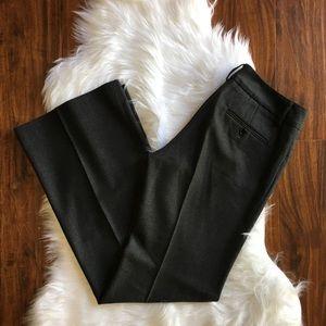 Theory Dark Grey Wool Wide Leg Dress Pant Size 4
